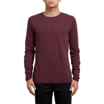 Camisola vermelha Harweird Stripe Crimson da Volcom