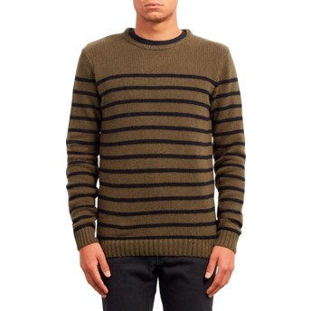 Camisola verde Edmonder Striped Military da Volcom