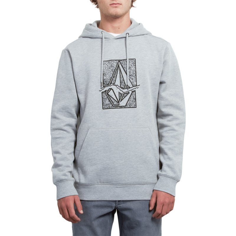 moletom-com-capuz-cinza-com-logo-preto-supply-stone-heather-grey-da-volcom