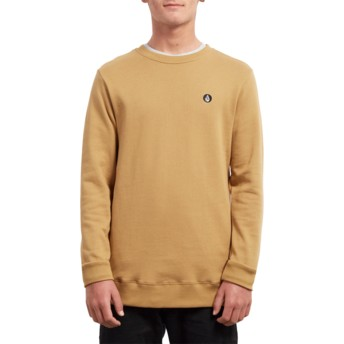 Sweatshirt amarelo Single Stone Old Gold da Volcom