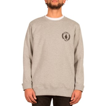 Sweatshirt cinza Supply Stone Grey da Volcom