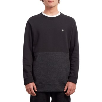 Sweatshirt preto Single Stone Division Sulfur Black da Volcom