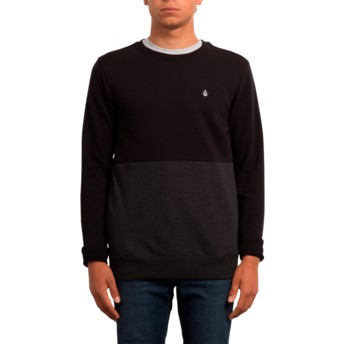 Sweatshirt preto Single Stone Division Black da Volcom