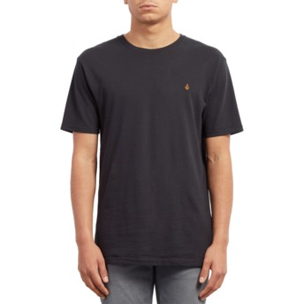 Camiseta manga curta preto Stone Blank Black da Volcom