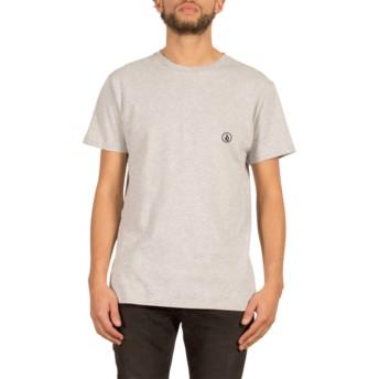 Camiseta manga curta cinza Stone Blank Heather Grey da Volcom