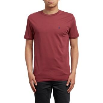 Camiseta manga curta vermelho Stone Blanks Crimson da Volcom