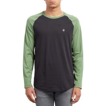 Camiseta manga comprida preto e verde Pen Dark Kelly da Volcom
