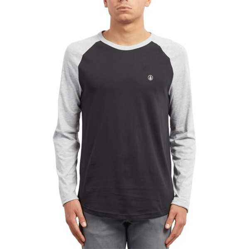 f71bcb83f Camiseta manga comprida preto e cinza Pen Heather Grey da Volcom ...