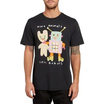Camiseta manga curta preto Less Bots Black da Volcom