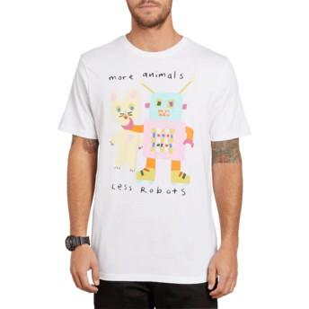Camiseta manga curta branco Less Bots White da Volcom
