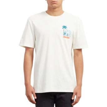 Camiseta manga curta branco Cryptic Isle Dirty White da Volcom