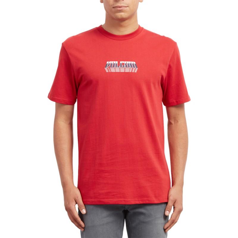 85e1aa44a Camiseta manga curta vermelho Black Hole Engine Red da Volcom ...
