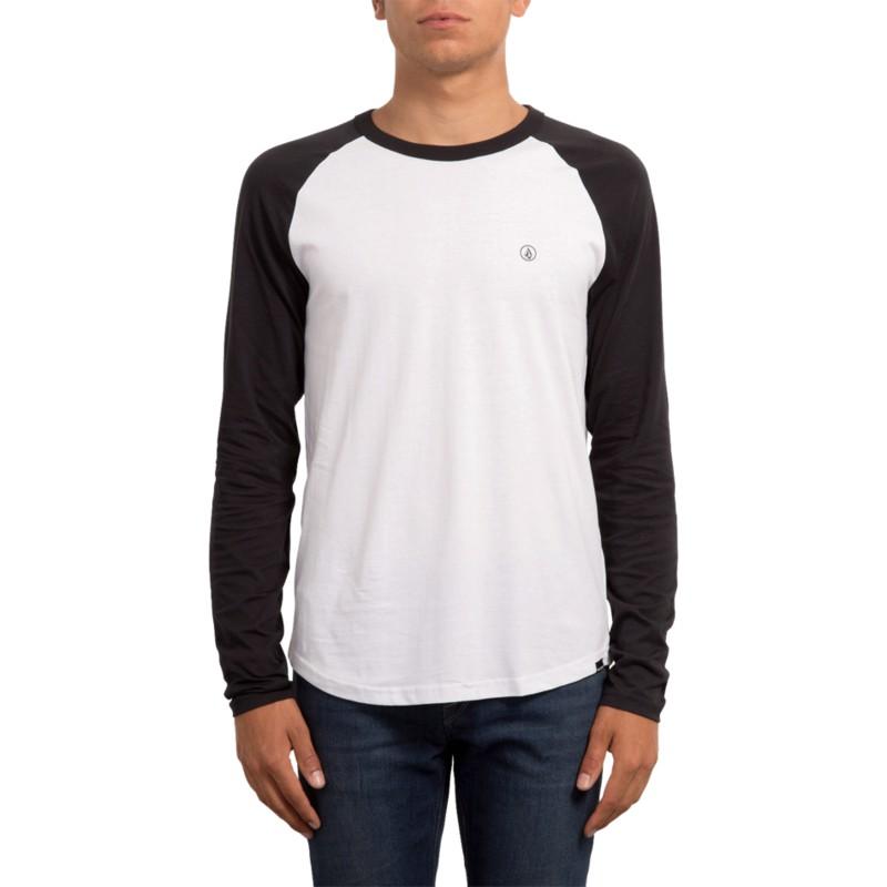 d55c39fd2 Camiseta manga comprida branco e preto Pen White da Volcom  comprar ...