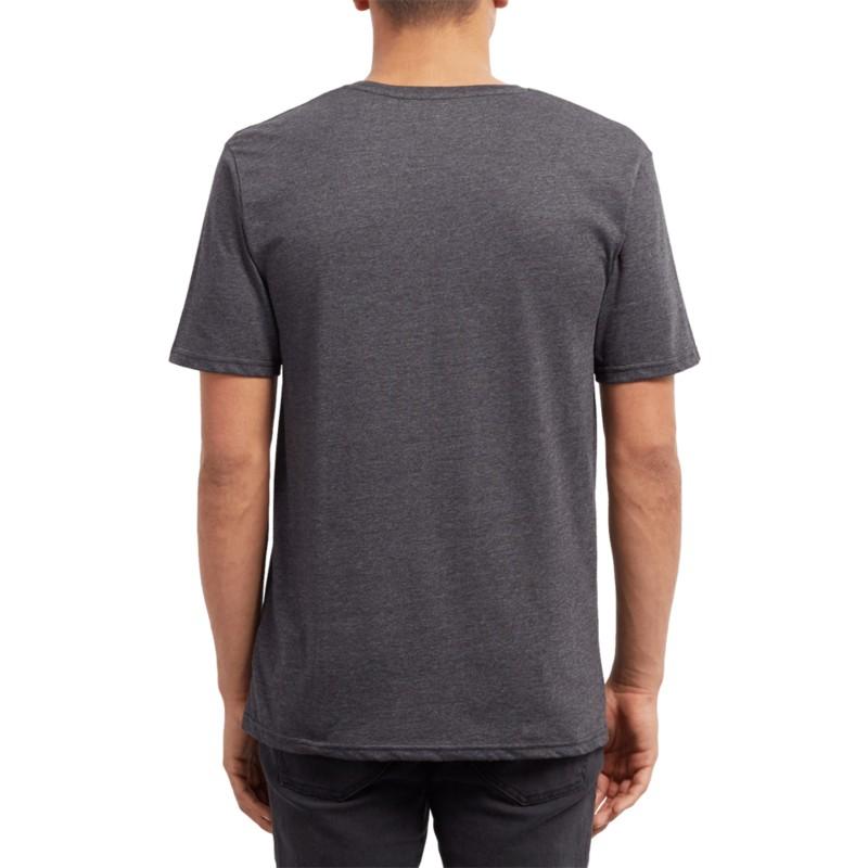 35a64776e Camiseta manga curta preto Pinline Stone Heather Black da Volcom ...
