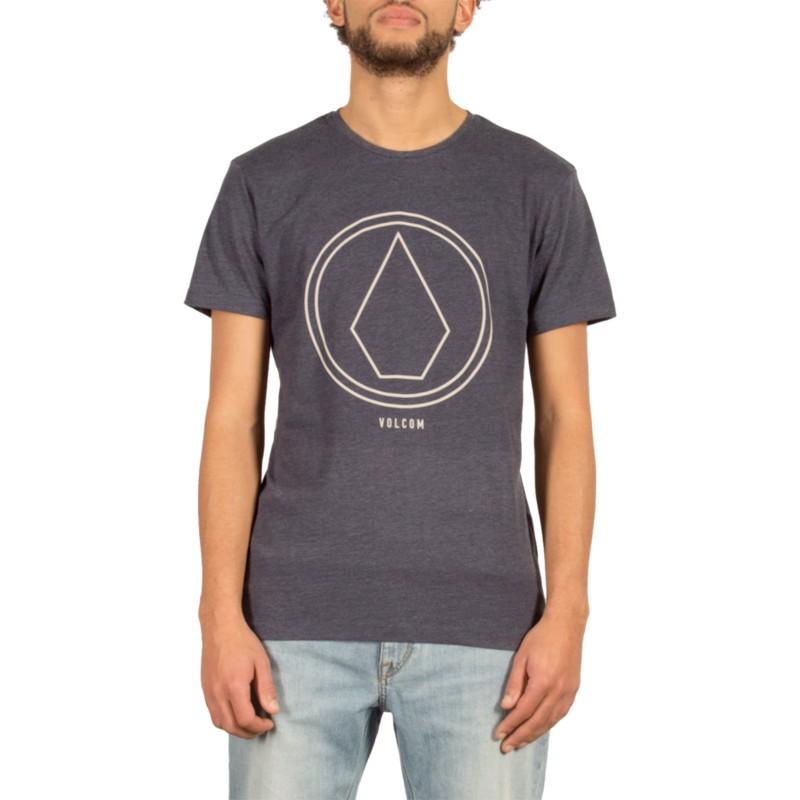 b1eadedfd Camiseta manga curta azul marinho Pinline Stone Indigo da Volcom ...