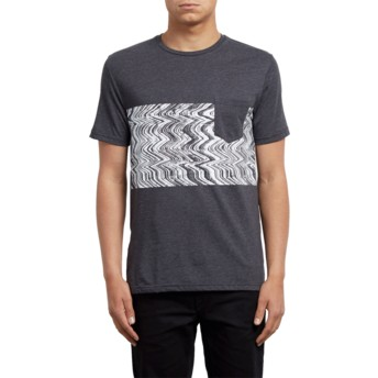 3475b87a8 Camiseta manga curta preto Three Quarter Heather Black da Volcom ...
