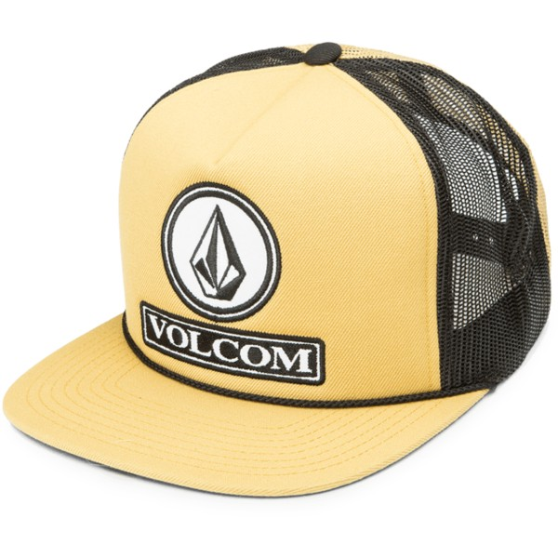 Boné trucker amarelo Dually Cheese Amber Rock da Volcom  comprar ... 2d29ed6ad77