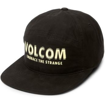 Boné plano preto ajustável Volstranger Black da Volcom