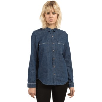 Camisa manga comprida azul Cham Jam Deep Water da Volcom