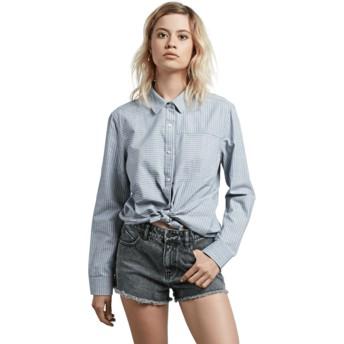 Camisa manga comprida azul Cham Stripe da Volcom