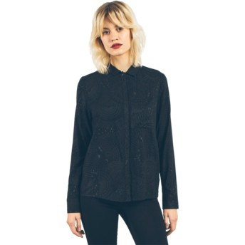 Camisa manga comprida preta Space Trip Black da Volcom
