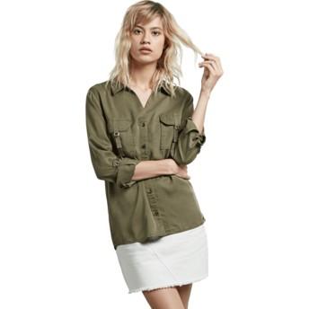 Camisa manga comprida verde Plus Dark Camo da Volcom