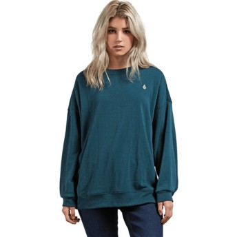 Sweatshirt verde Darting Traffic Evergreen da Volcom
