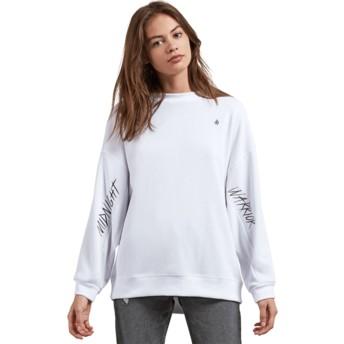 Sweatshirt branco Darting Traffic White da Volcom
