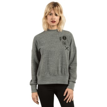 Sweatshirt preto Stayin High Charcoal da Volcom