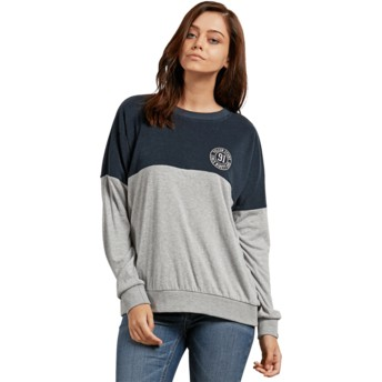 Sweatshirt azul marinho e cinza Blocking Sea Navy da Volcom