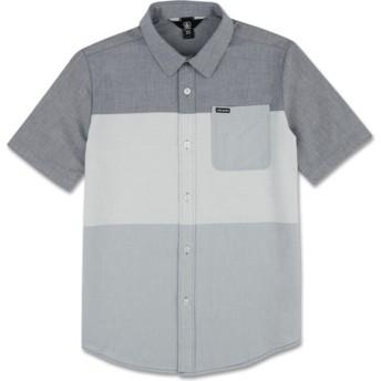 Camisa manga curta azul para criança Crestone Deep Blue da Volcom