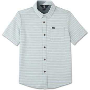 Camisa manga curta cinza para criança Eastport Chambray Wrecked Indigo da Volcom