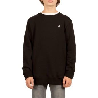 Sweatshirt preto para criança Single Stone Black da Volcom