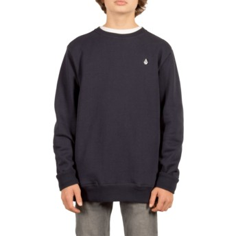 Sweatshirt azul marinho para criança Single Stone Navy da Volcom