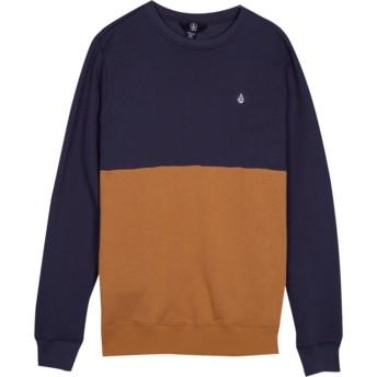 Sweatshirt azul marinho e castanho para criança Single Stone Division Midnight Blue da Volcom