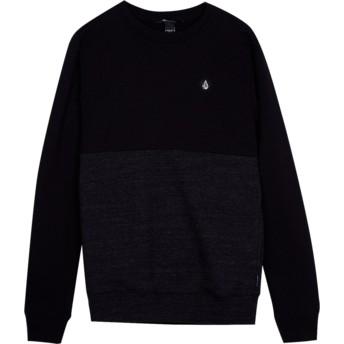 Sweatshirt preto para criança Single Stone Division Sulfur Black da Volcom