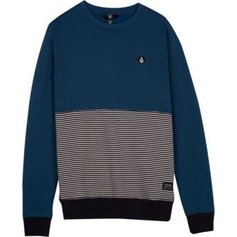 Sweatshirt azul para criança Threezy Navy Green da Volcom