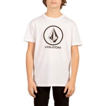 Camiseta manga curta branco para criança Circle Stone White da Volcom