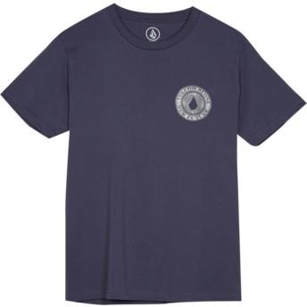 Camiseta manga curta azul marinho para criança Volcomsphere Midnight Blue da Volcom