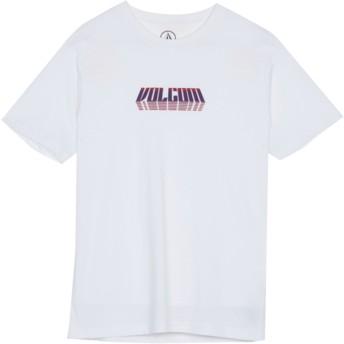 Camiseta manga curta branco para criança Black Hole White da Volcom