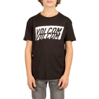 Camiseta manga curta preto para criança Chopper Black da Volcom