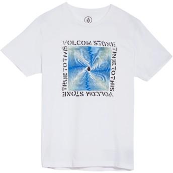 Camiseta manga curta branco para criança Stoneradiator White da Volcom
