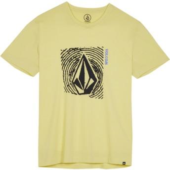 Camiseta manga curta amarelo para criança Stonar Waves Acid Yellow da Volcom