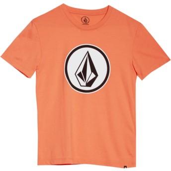 Camiseta manga curta vermelho para criança Classic Stone Salmon da Volcom