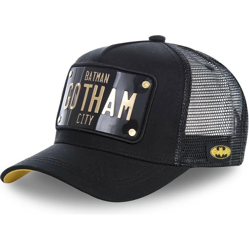 323d40e781 Boné trucker preto com placa Batman Gotham City BATP1 DC Comics da ...