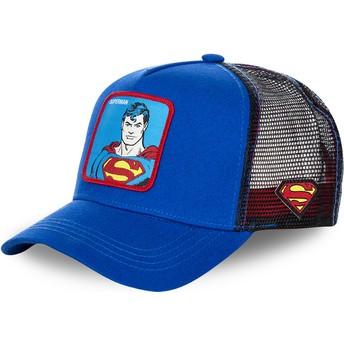 Boné trucker azul Superman clássico DC2 SUP DC Comics da Capslab