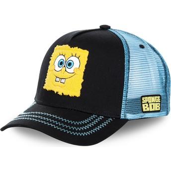 Boné trucker preto e azul SpongeBob SquarePants SPOBLK da Capslab