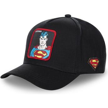Boné curvo preto snapback Superman clássico SUP4 DC Comics da Capslab