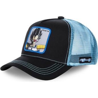 Boné trucker preto e azul Vegeta VEGB Dragon Ball da Capslab
