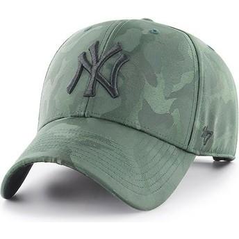 Boné curvo camuflagem verde da New York Yankees MLB Clean Up Jigsaw da 47 Brand